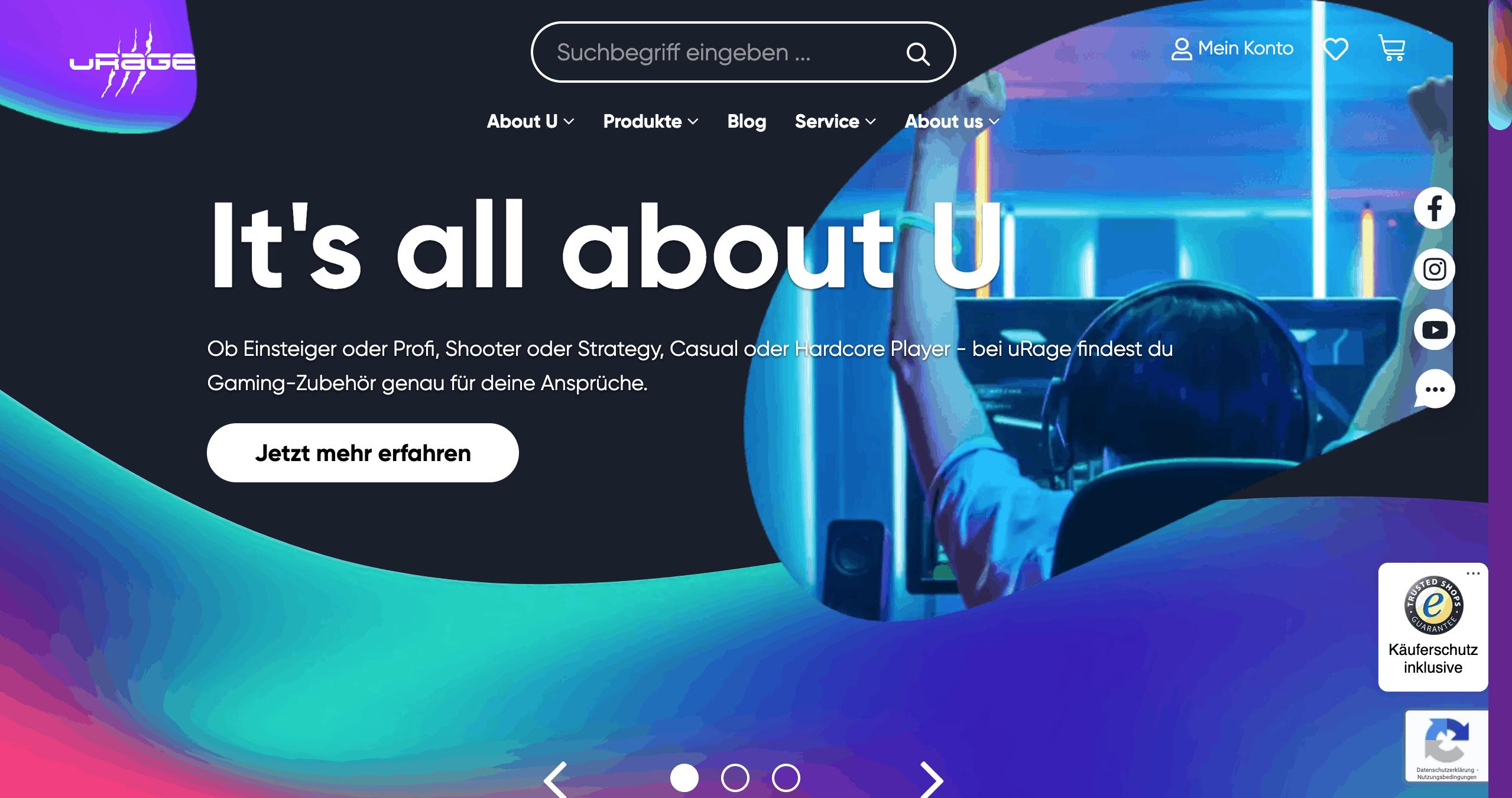 Website von hama uRage